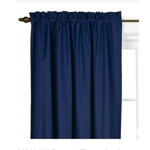 """Braxton Thermaback Curtain Panel 42""""x63"""" Eclipse"""